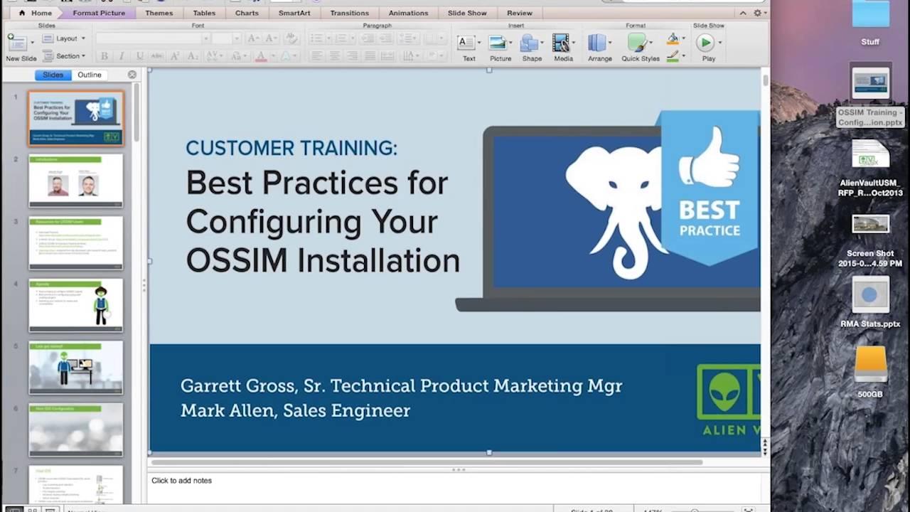 OSSIM Tutorial: Best Practices for OSSIM Configuration