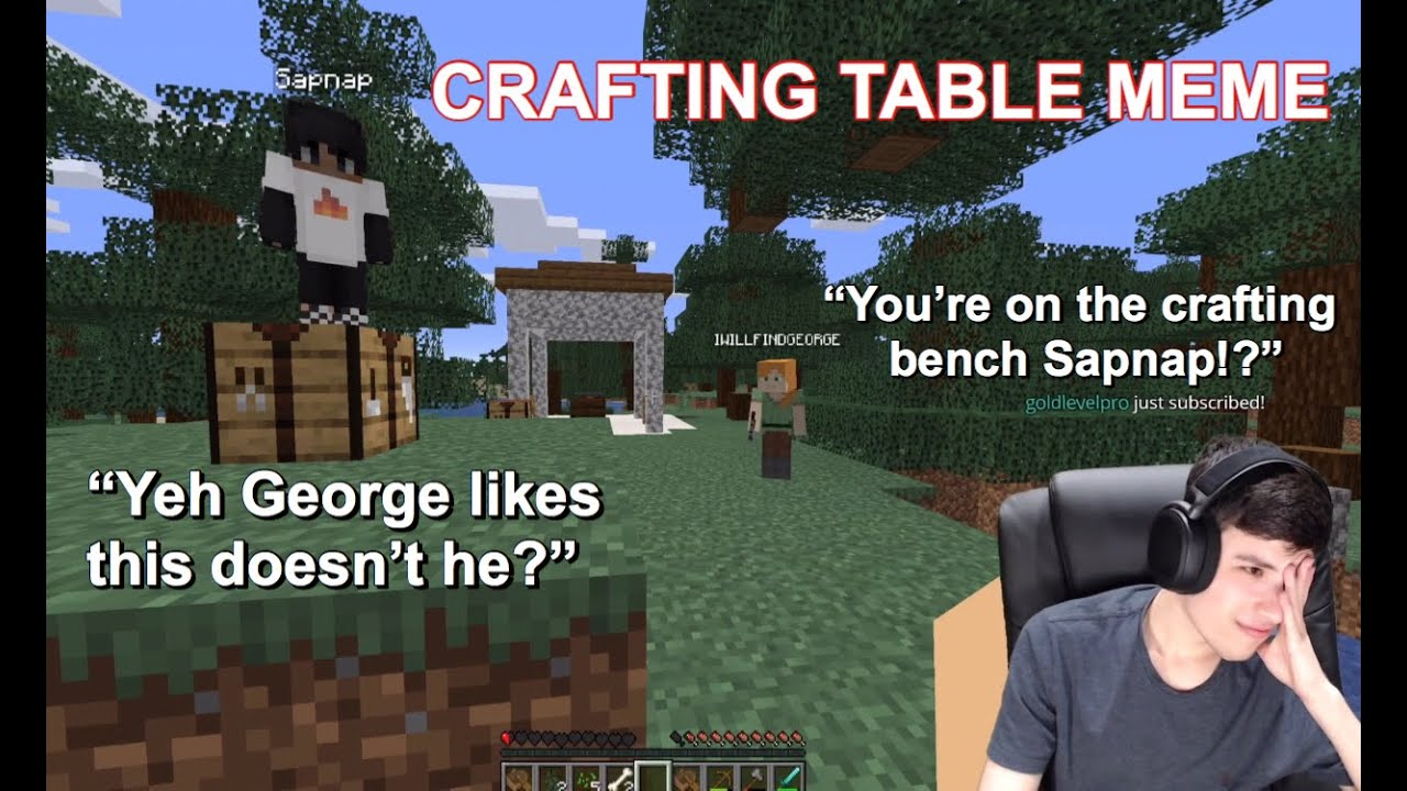 Crafting Table Meme Dream Team Minecraft Crafting Bench Meme Youtube