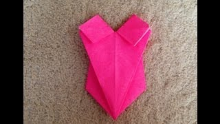 詳しくはおりがみホームページ参照 http://origami.wiki.fc2.com/wiki/%E6%B0%B4%E7%9D%80 折り紙での水着の折り方を載せています.