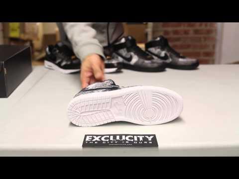"""Ladies Air Jordan 1 Retro High BHM """"White/Black"""" Unboxing Video At Exclucity"""