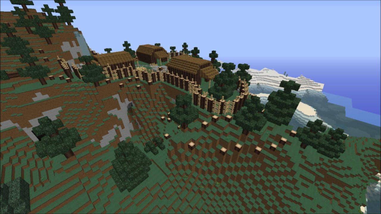 Iroquois Village Mine Craft Youtube