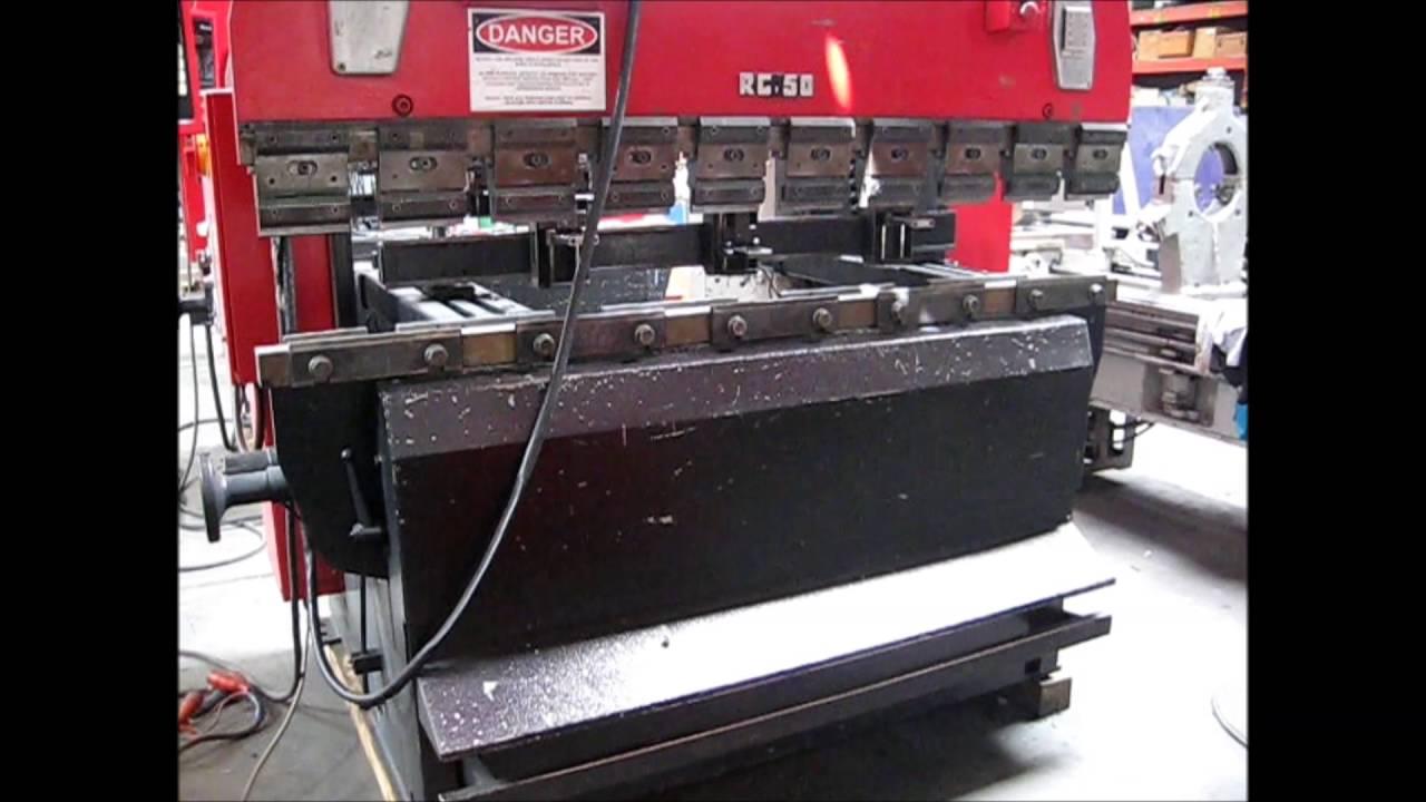 amada rg 50 up acting hydraulic cnc press brake under power rohner rh youtube com