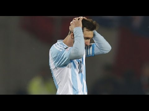Chile 4-2 Argentina Tie Breaker Copa AMerica 2016 Final - Messi Miss