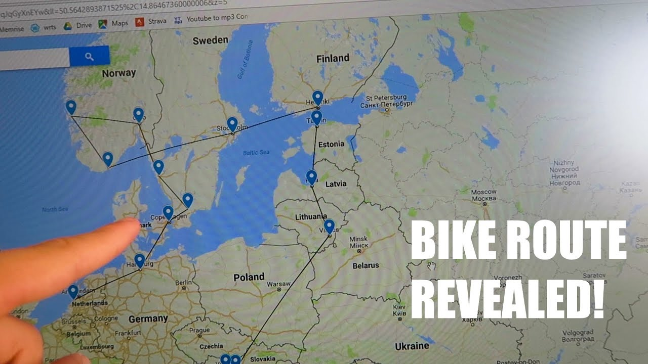 Bike Route Leaving Date Revealed Update Vlog YouTube - Youtube germany map