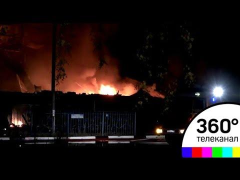 Пожар в торговом центре в Чехове ликвидирован