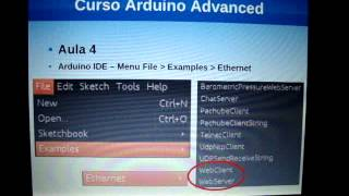 Curso Arduino Advanced - Aula 4 (Ethernet Shield Parte 1) renatoaloi.blogspot.com