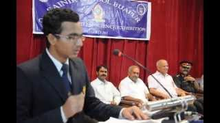 Sainik School Bijapur, Science Exhibition, Rakesh, Vote of thanks, July 2013