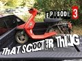 That Scooter Thing Ep. 3 - Mounting the new engine on the Yamaha CA50