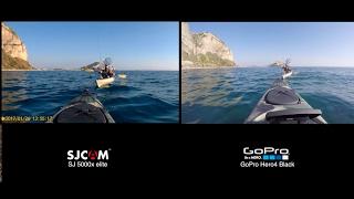 SJCAM SJ5000X ELITE vs Gopro Hero4 Black - Action cam for our kayak fishing