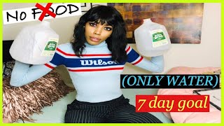 Girl Tries 7 Day ONLY WATER FAST   Consumí solo agua para 7 días  NO FOOD for a week RESULTS
