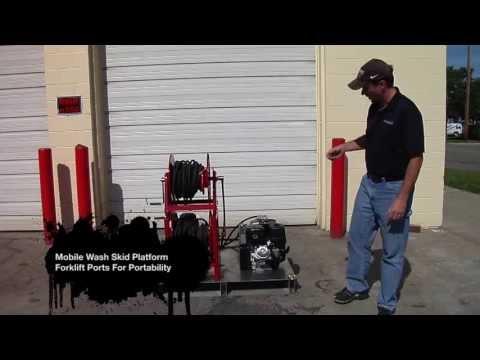 Mobile Pressure Washer Skid Platform, Detailer, Contractor Package