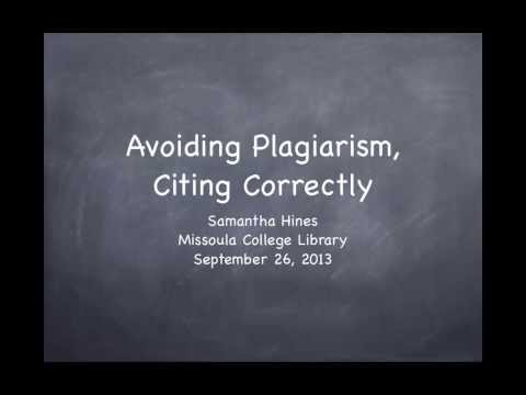 How to avoid plagiarism when writing a research paper