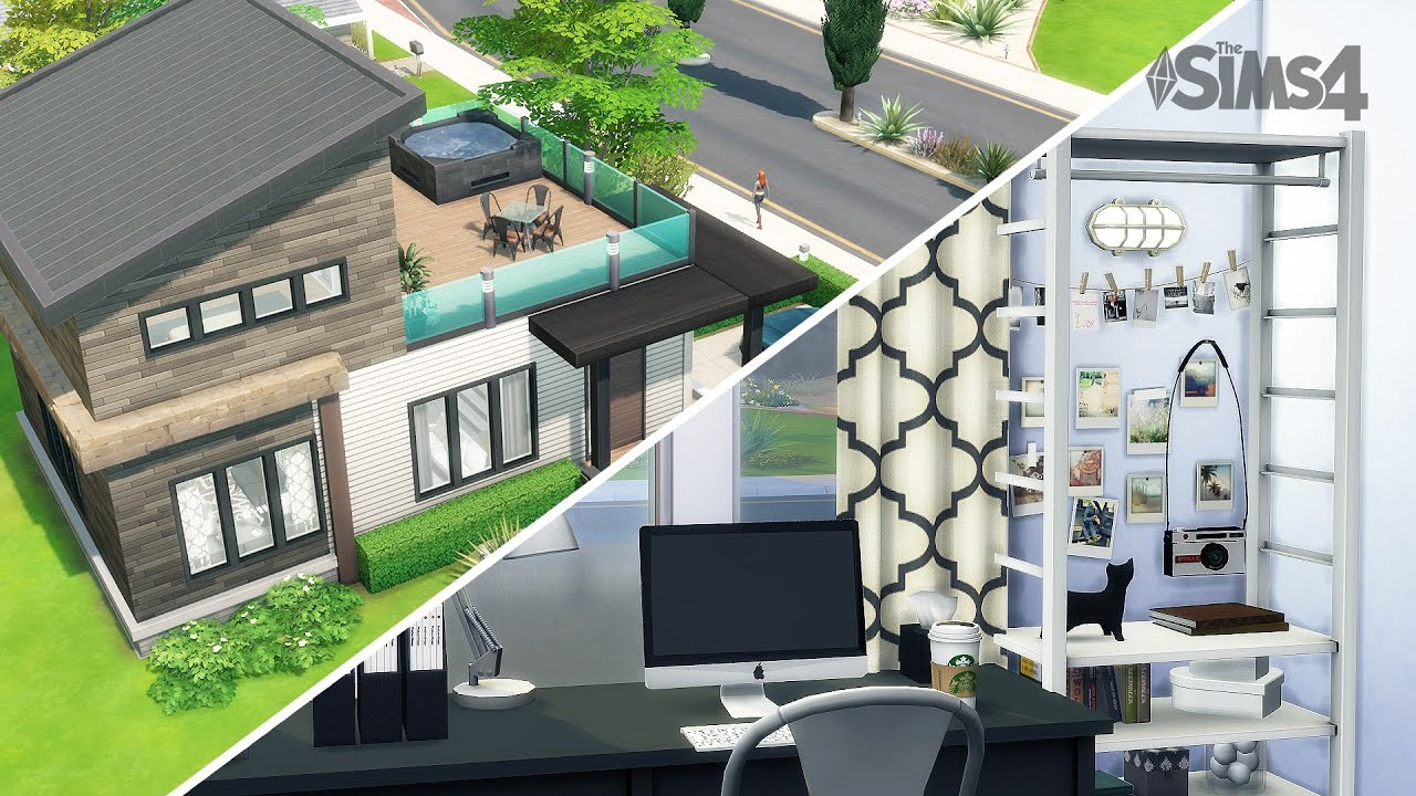 1ere maison tumblr sims 4 youtube for Maison moderne sims 4