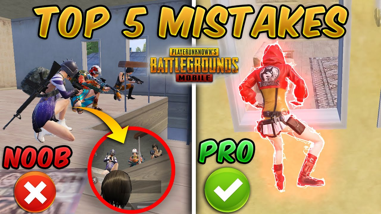 TOP 5 DEADLY MISTAKES YOU MAKE IN PUBG MOBILE & TIPS AND TRICKS TO FIX THEM!!! #2