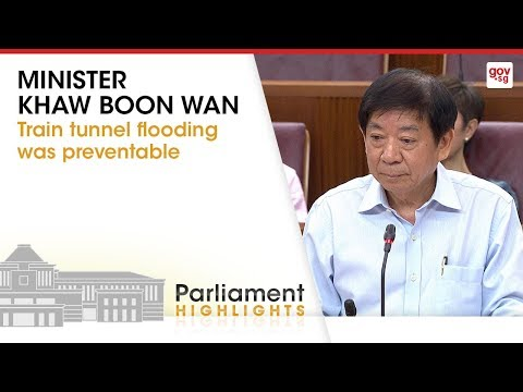 Train tunnel flooding was preventable: Minister Khaw