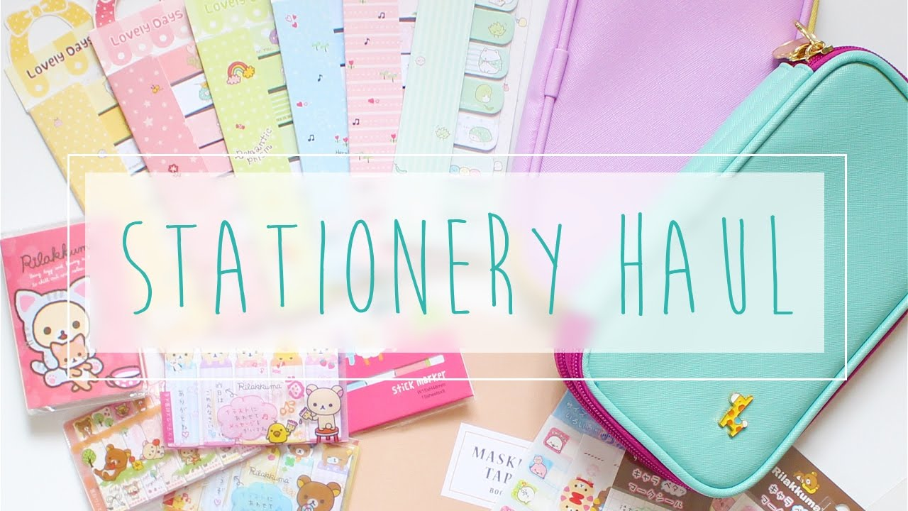 Stationery Sticky Notes Amp Planner Goodies Haul A