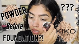 Baixar Powder BEFORE Liquid Foundation?! WHAT. // Dope Or Hoax / MariaaGloriaa