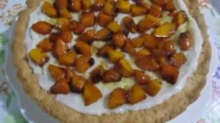Песочный торт с заварным кремом и фруктами в карамели.Рецепт тарта.Рецепт карамели.