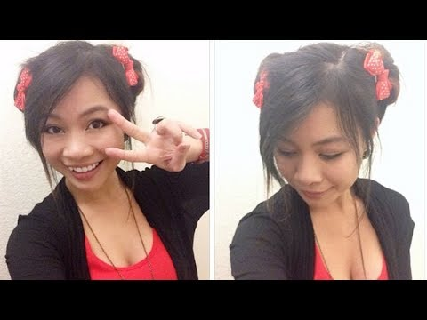 Double Bun Hairstyle L Cute Anime Odango Buns Youtube
