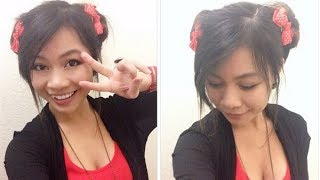 Double Bun Hairstyle l Cute Anime Odango Buns