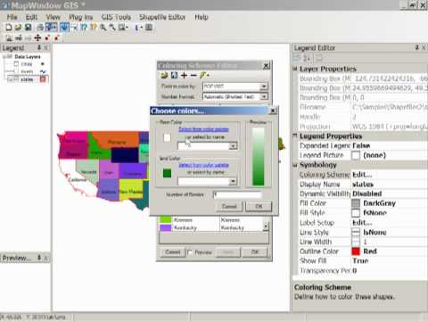 Map Window Shapefile Viewing Part II