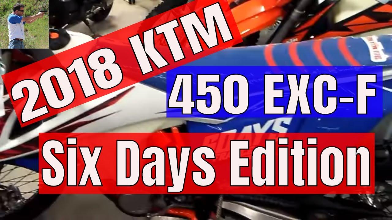2018 ktm 450 exc six days. plain exc 2018 ktm 450 excf six days edition in ktm exc six days