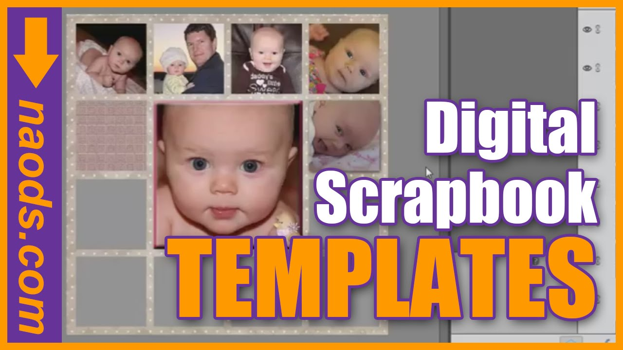 Photoshop layer template # t040 [sgddesigns]: scrapbooks gone.