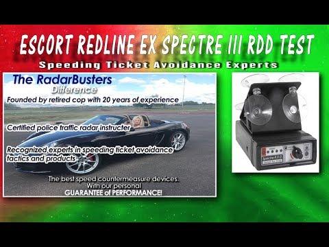 Spectre III Escort Redline EX Radar Detector Test