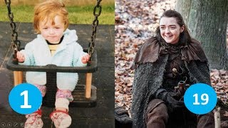 Maisie Williams (Arya Stark) From 1 to 20 years old | Game of thrones