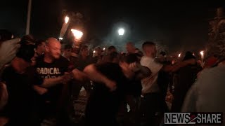 Fight and One Arrest as Protesters with Torches March Through UVA
