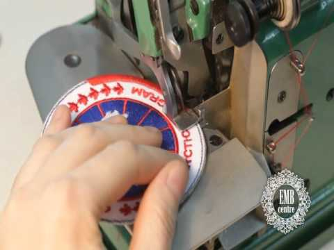 How To Finish A Patch With A Merrow Mg40u Edging Machine YouTube Simple Sewing Machine For Patches