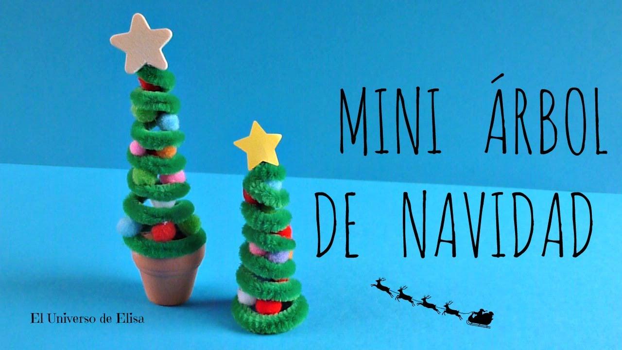 Manualidades para navidad mini rbol de navidad abeto de - Manualidades de arboles de navidad ...