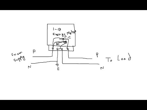 hqdefault single phase energy meter connection youtube energy meter wiring diagram at n-0.co