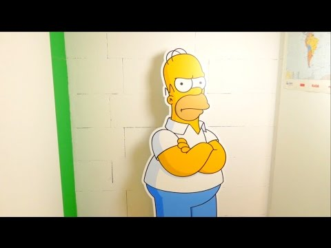 The Simpsons - Homer Cardboard Cutout - 160cm Lifesize - YouTube