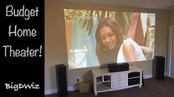 Budget Home Theater with Projector 12 foot Screen Size!