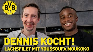 Salmon with Youssoufa Moukoko! | Cooking with Dennis