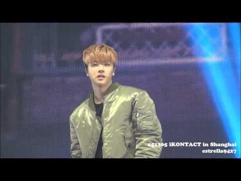 【Jinhwan Fancam】151205 iKONTACT in SHANGHAI 〜오늘따라(TODAY)〜 iKON