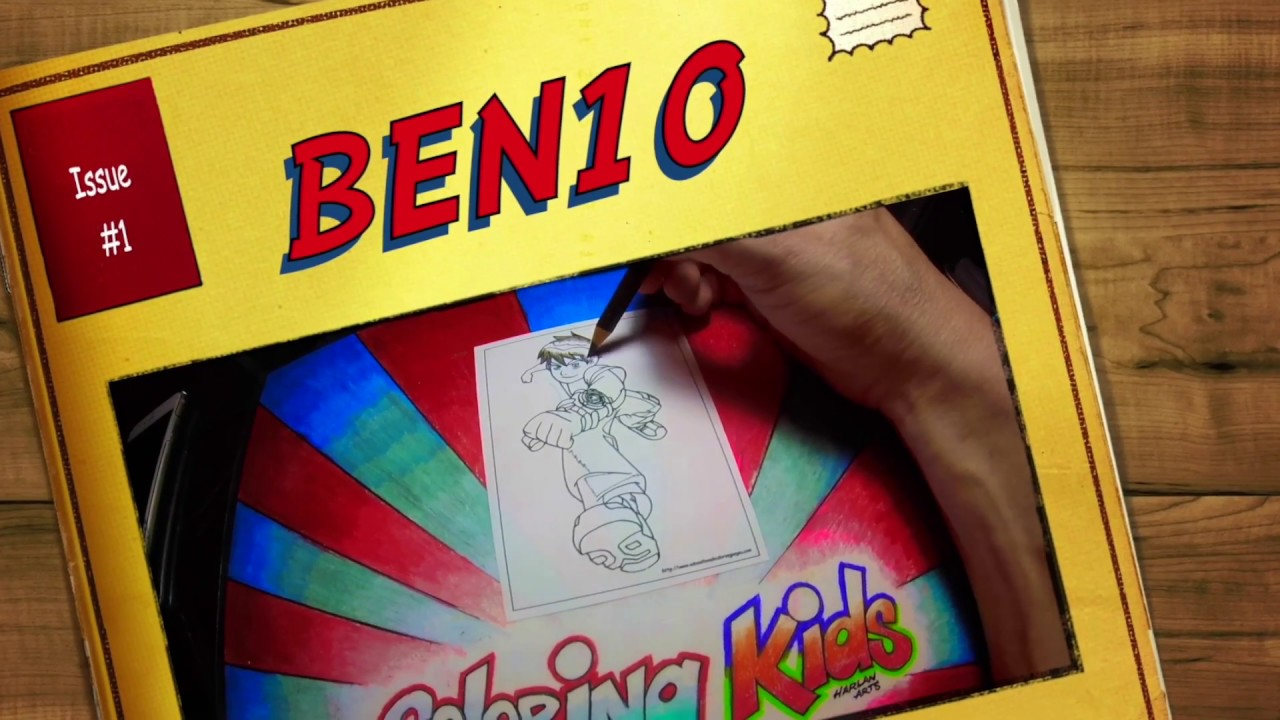 ben 10 coloring pages for kids learn color techniques youtube