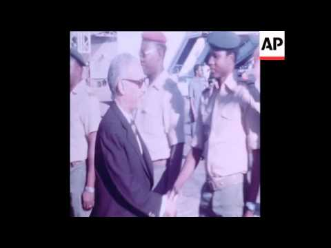 SYND 10 7 78 FILE FOOTAGE OF EX- PRESIDENT OF MAURITANIA DADDAH IN CHAD