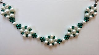 Easy DIY bracelet project. How to make bracelets with beads(pearl beads, seed beads)