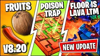 *NEW* Fortnite Update *RIGHT NOW* | FRUIT ITEMS, FLOOR IS LAVA LTM & POISON TRAP (Patch Notes v8.20)