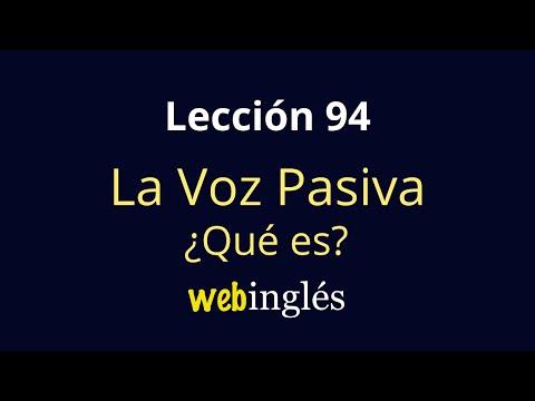 Traductor de español a voz pasiva en ingles