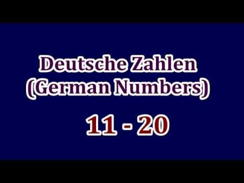 deutsche zahlen german numbers 11 20 f r kinder for kids youtube. Black Bedroom Furniture Sets. Home Design Ideas