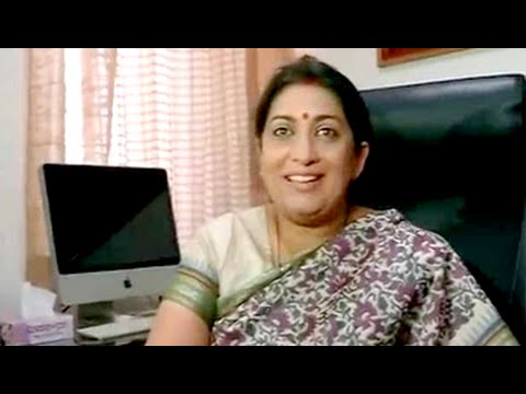 'Kuch toh log kahenge...,' Smriti Irani, textile minister, says with a smile