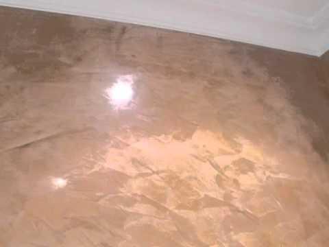 Cocina con estuco veneciano color tarracota planchado en frio y encerado 2 mp4 youtube - Cocinas con estuco ...