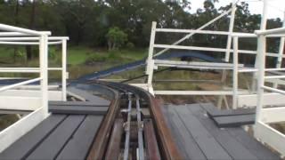 Wild Mouse Wooden Roller Coaster Front Seat POV Aussie World Australia