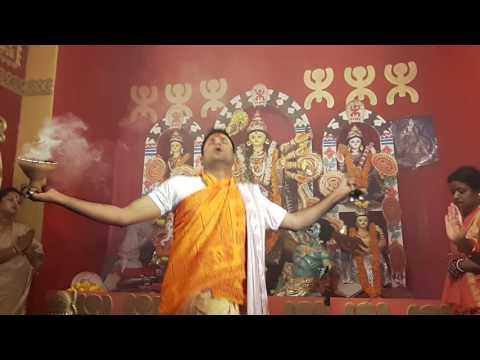 Durga arti Durgapuja aroti www.purohitmoshay.com Bangalore Durgapuja R T Nagar by Dr.ShibShankar Bha