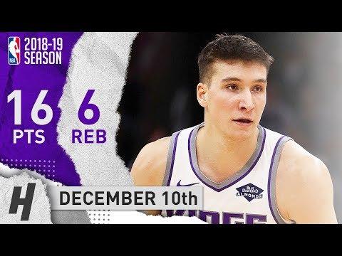 Bogdan Bogdanovic Full Highlights Kings vs Bulls 2018.12.10 - 16 Pts, 6 Reb off the Bench