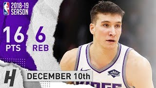 Bogdan Bogdanovic Full Highlights Kings vs Bulls 2018.12.10 - 16 Pts, 6 Reb off the Bench