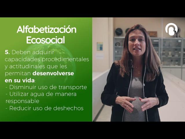 Alfabetización Ecosocial | Gema Sánchez | CienciaCreActiva | Bio3
